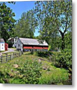 Hopewell Village And Stream Metal Print
