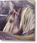 Horse World Detail Metal Print