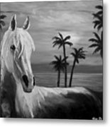 Horses In Paradise  Tell Me Your Dream Metal Print