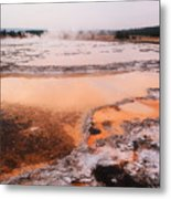 Hot Springs In Yellowstone. Metal Print
