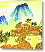 House In Mountains Metal Print