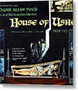 House Of Usher, Aka The Fall Of The Metal Print