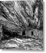 House On Fire Ruin Utah Monochrome 2 Metal Print