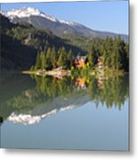 House On Green Lake Whistler B.c Canada Metal Print