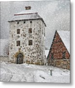 Hovdala Castle Gatehouse In Winter Metal Print