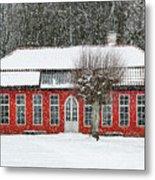 Hovdala Castle Orangery In Winter Metal Print