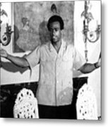 Huey Newton, Black Panther Party Metal Print by Everett
