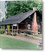Huffman Log Cabin Metal Print