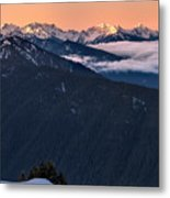 Hurricane Ridge At Sunrise In Olympic National Park Washington Metal Print