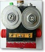 Hypno Bot Metal Print by Jen Hardwick