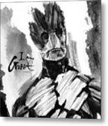I Am Groot Metal Print