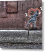 I Heart Ny Street Art 4 Metal Print