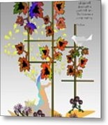 I Saw Fall Today Metal Print