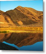 Ibex Hills Reflection Metal Print