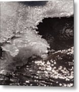 Ice And Sparkling Water Metal Print