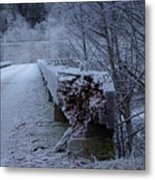 Ice Bridge Metal Print