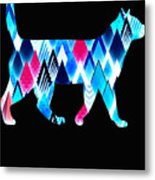 Ice Triangles Cats Metal Print