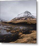 Icelandic  Mountain Landscape Metal Print