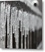Icicles At Attention Metal Print