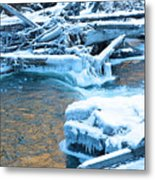 Icy Blue River Metal Print