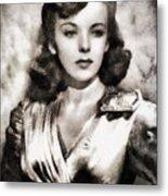 Ida Lupino, Vintage Actress Metal Print