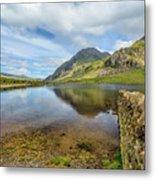 Idwal Lake Snowdonia Metal Print by Adrian Evans