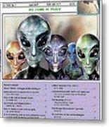 Magazine  Illustration Metal Print