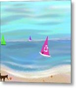 In The Pink - Sailing In Tropical Waters Metal Print