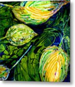Indriel Blue Hosta Metal Print