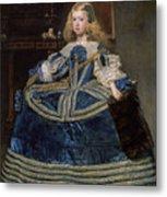 Infanta Margarita Teresa In A Blue Dress Metal Print