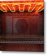 Inside The Oven Front Metal Print