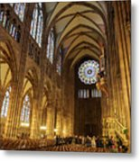 Interior Of Strasbourg Cathedral Metal Print