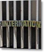 International Semi Truck Emblem Metal Print