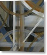 Intersection In Blue 4 Metal Print