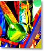 Intersections Abstract Collage Metal Print