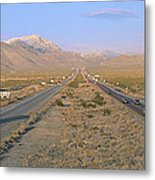 Interstate 15, Near Las Vegas, After Metal Print