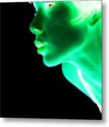 Inverted Realities - Green  Metal Print