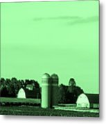 Iowa Farm Panorama Metal Print
