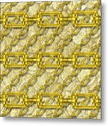 Iron Chains With Money Seamless Texture Metal Print