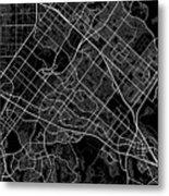 Irvine California Usa Dark Map Metal Print