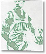 Isaiah Thomas Boston Celtics Pixel Art Metal Print