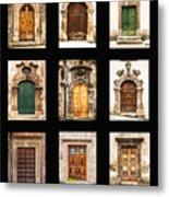Italian Doors Metal Print