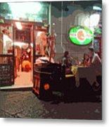 Italian Restaurant At Night Metal Print