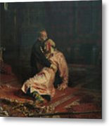 Ivan The Terrible And His Son Ivan On November 16, 1581 Metal Print