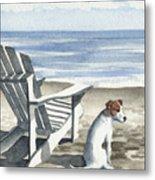 Jack Russel Terrier At The Beach Metal Print