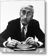 Jacques Cousteau (1910-1997) Metal Print