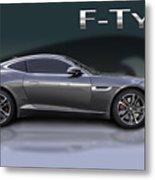 Jaguar F Type Metal Print