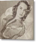 Janet Leigh, Vintage Actress Metal Print