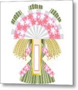 Japanese Newyear Decoration Metal Print