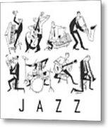 Jazz Metal Print by Sean Hagan